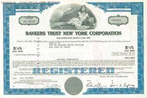 Bankers Trust New York Corporation - Stock Certificate