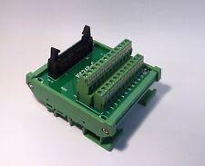 IDC-24 Male Header Breakout Board Screw Terminal Adaptor DIN rail mounting