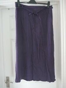 Purple Floral Skirt Ladies Size 16 C&A Your Sixth Sense Vintage Evening Party