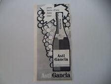 advertising Pubblicità 1960 SPUMANTE ASTI GANCIA