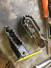 1 Pair Footrest Peg Serrated WIDENERS Pre 65 Enduro Scramble Moto X Trial Racing