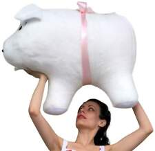 American Made Giant Stuffed Pig 32 Inch Soft White Big Plush Hog Farm Animal New