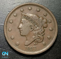 1837 Coronet Head Large Cent   --  MAKE US AN OFFER!  #B2777