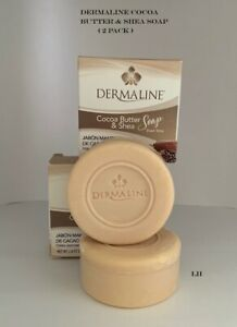 DERMALINE COCOA BUTTER & SHEA SOAP 2.8 oz ( 2 PACK )