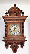105x50cm RIESIGE LENZKIRCH GUTSHERRENUHR Wanduhr Regulator-aus 1895-viel BRONZE