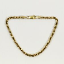 Jewelry & Accessories Ethnic, Regional & Tribal 14k Yellow Gold Hollow Rope Chain Bracelet 4mm 6.75 Inch 2.2 Grams D9347