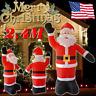 XXXL 2.4M Christmas Inflatable Santa Claus Air Blown Outdoor Yard LED Decoration