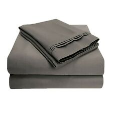 Luxor Impressions 100% Egyptian Cotton Sheet Set 800 TC ~ King ~ Gray **NEW**
