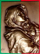 ITALIAN PAINTER / FERRUZI / MADONNINA /  BRONZE MEDAL BY BALTAZAR