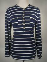 Beautiful Women's Large Tommy Hilfiger Blue White Striped Long Sleeve Knit Top