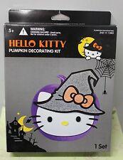 "HELLO KITTY PUMPKIN DECORATING KIT 9-11"" Halloween Girls Women Teen Cute Cat"
