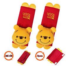 2X New Cute Cartoon Winnie pooh Car Seat Belt Cover Shoulder Cushion Pads#01a2