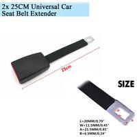 2Pcs 25CM Car Seat Belt Extender Extension Buckle Clip for Fat Pregnant People