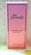Philosophy Live Joyously Eau De Parfum Spray  .5 oz New In Box SEALED
