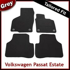 VW Passat B6 B7 2005-2015 Round Clips Fully Tailored Carpet Car Floor Mats GREY