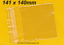 100 Clear Plastic Bags Resealable, 141 x 140mm, Cello Packaging Reseal