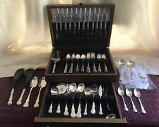 91 Piece - Towle Sterling Silver French Provincial Flatware Serving Utensils Box