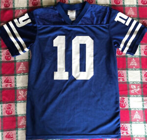 New York Giants #10 MANNING, NFL Team AppareL Jersey Style Shirt Youth XL, 14-16