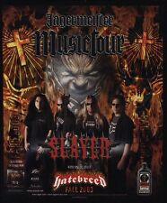 2003 SLAYER Jagermeilter Concert Tour With HATEBREED VINTAGE ADVERTISEMENT