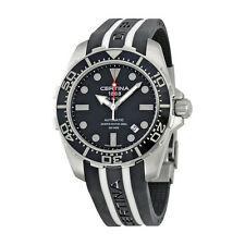 Certina DS Action Diver Automatic Black Dial Black and White Rubber Mens Watch
