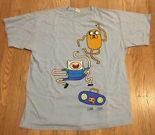 Adventure Time T-Shirt Tee Mens Size Large Cartoon Network Regular Show Vintage