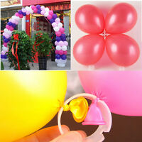 50X Decorative Helium Balloons Arch Buckle Ring Clips DIY Kit Wedding Birthday