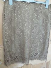 LADIES LACE SKIRT FROM NEXT SIZE 16 LINED, LIGHT BRONZE GOLD