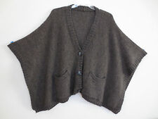 Tarnish from Nordstroms Italian Poncho, Sweater Front, Brown/Gray, One Size