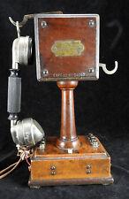 Ancien telephone en bois electro modern type 10 n 24047