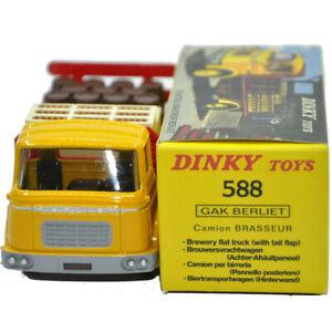 DINKY TOYS REF 588 ATLAS PLATEAU BRASSEUR BERLIET JAUNE yellow Diecast