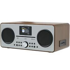 Azatom CD DAB DAB+ Radio Alarm Clock Bluetooth FM Speaker charger Trinity Walnut