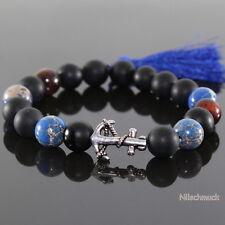 Herrenarmband Tibetperlen Vindy Design Stretcharmband Lava Perlen
