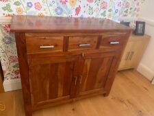 Solid Sheesham Wood Sideboard Cupboard Cabinet