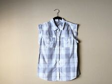 Womens Fossil Plaid Button Down Collared Top M