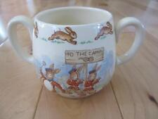 ROYAL DOULTON BUNNYKINS TWO HANDLED MUG REPAIR TO THE CAMP SIGNED BARBARA VERNON