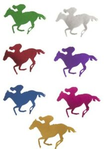 Melbourne Cup Horse Rider Metallic Cut Out 20cm - Melbourne Cup Party Supplies