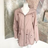 Parka in a Pocket Pink Hooded Womens Rain Coat Raincoat Size Medium 6/8