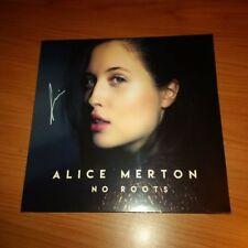 """12"""" EP ALICE MERTON NO ROOTS PAPER PLANE 889854806811 SIGILLATO AUTOGRAFATO 4TR"""