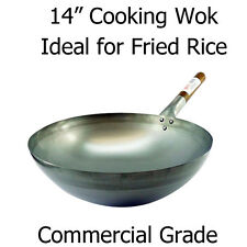 "14"" (36CM) ROUND COOKING WOK - COMMERCIAL QUALITY IDEAL FOR RESTAURANT/TAKE AWAY"