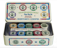 Presidents Custom Poker Chip Set Vintage Antique Blackjack Las Vegas Poker Chip