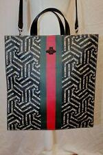 GUCCI GG Supreme Monogram Caleido Print Web Tote Shoulder Bag