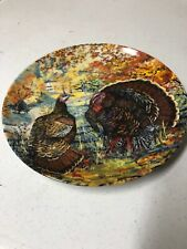 Knowles Collector's Plate The Wild Turkey by Wayne Anderson Thanksgiving Turkey