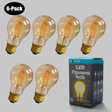 6x 4W LED COB Edison Filament Bulb Dimmable Warm Color Light AC120V E26 Lamp