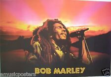 "BOB MARLEY ""HEAD SHOT OVER BEAUTIFUL SUNSET"" POSTER FROM ASIA -Reggae Superstar"