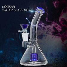 Glass Hookah Bongs Water Pipe Smoking Pipe Shisha Tobacco 19cm Funnel Shape