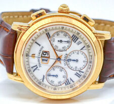 Maurice Lacroix 18k 750 GOLD FlyBack Chronograph Automatic 40mm Rechnung MP6108
