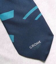 GROHE LOGO TIE VINTAGE RETRO 1990s 2000s NAVY BY DAVE MACKAY CORPORATE ADVERT
