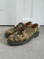 Dr Martens 1461 Mens Camo Lickwax Shoes Size UK 7 Made In England AW501