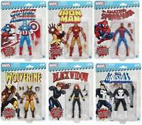 Marvel Legends Vintage Action Figure Collection Set of 6 - Spiderman | Black