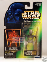 Star Wars Power of the Force Green Card - ASP-7 Droid Action Figure